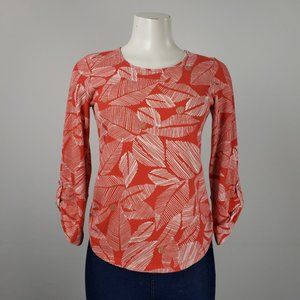 Chico's Red Cotton Top Size S